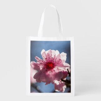 Bolso de ultramarinos reutilizable de la flor de bolsas para la compra