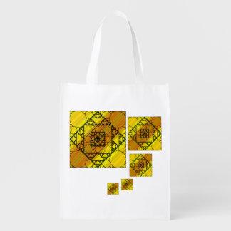 Bolso de ultramarinos reutilizable de la geometría bolsa de la compra