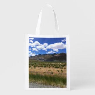 Bolso de ultramarinos reutilizable de la montaña bolsas de la compra