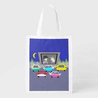 Bolso de ultramarinos reutilizable de la película bolsa de la compra