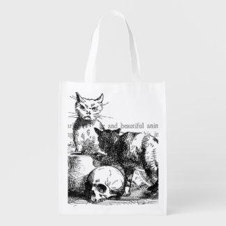 Bolso de ultramarinos reutilizable de los gatos bolsas de la compra