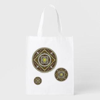 Bolso de ultramarinos reutilizable de los géminis bolsa de la compra