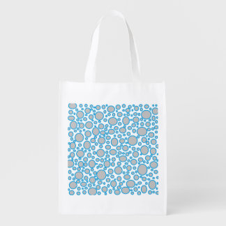 Bolso de ultramarinos reutilizable de los lunares bolsas de la compra