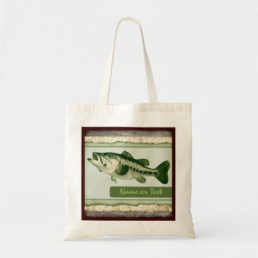 Bolso de ultramarinos reutilizable de los pescados bolsa tela barata