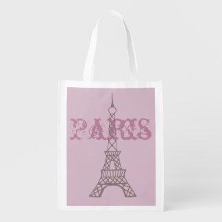Bolso de ultramarinos reutilizable de París de la  Bolsa De La Compra