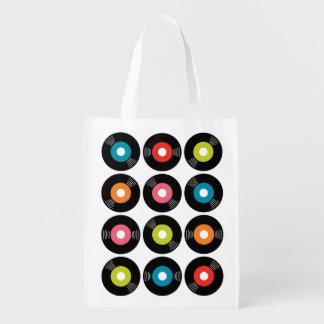 bolso de ultramarinos reutilizable de registro 45s bolsa para la compra