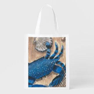 Bolso de ultramarinos reutilizable del cangrejo bolsas para la compra