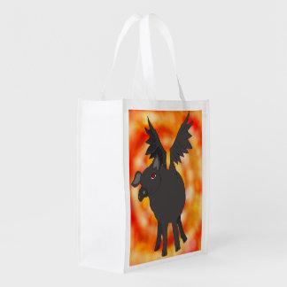 bolso de ultramarinos reutilizable del cerdo bolsas para la compra