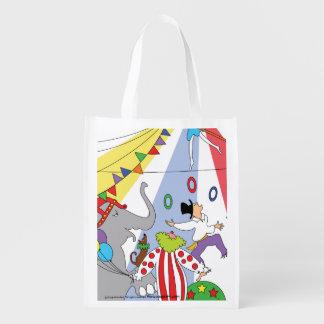 Bolso de ultramarinos reutilizable del circo bolsas de la compra