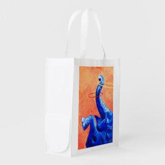 Bolso de ultramarinos reutilizable del elefante bolsa para la compra