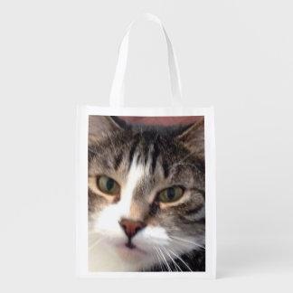 Bolso de ultramarinos reutilizable del gato bolsas para la compra