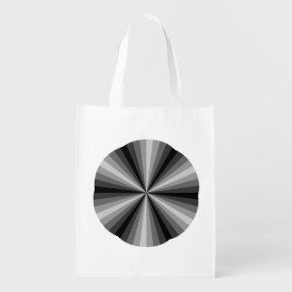Bolso de ultramarinos reutilizable del negro de la bolsas de la compra