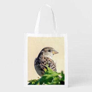 Bolso de ultramarinos reutilizable del pájaro deli bolsas para la compra