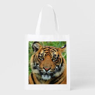 Bolso de ultramarinos reutilizable del tigre bolsas para la compra
