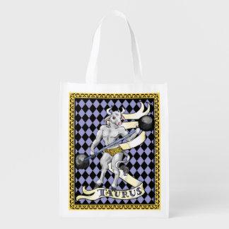 Bolso de ultramarinos reutilizable del zodiaco de bolsas de la compra