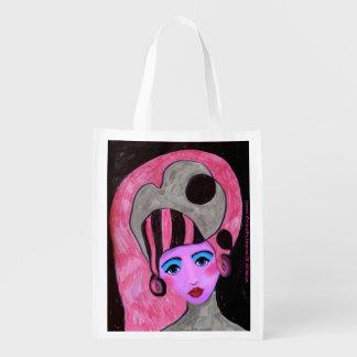 Bolso de ultramarinos reutilizable hermoso de la bolsas para la compra