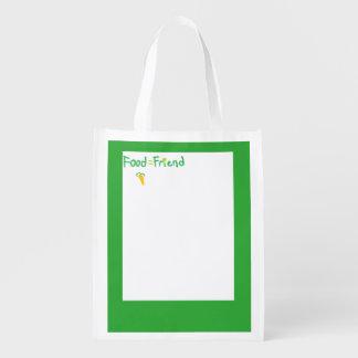 ¡Bolso de ultramarinos reutilizable lindo! Bolsa Para La Compra