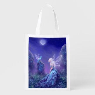 Bolso de ultramarinos reutilizable luminescente de bolsas para la compra