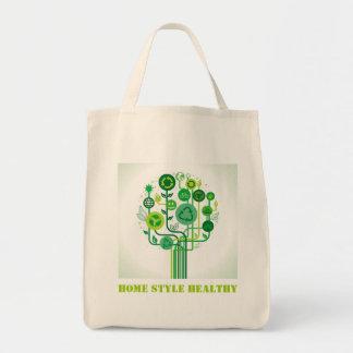 Bolso de ultramarinos reutilizable orgánico bolsa lienzo