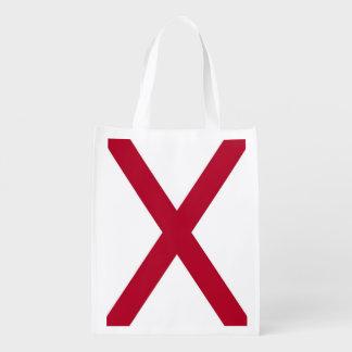 Bolso de ultramarinos reutilizable patriótico con bolsa reutilizable