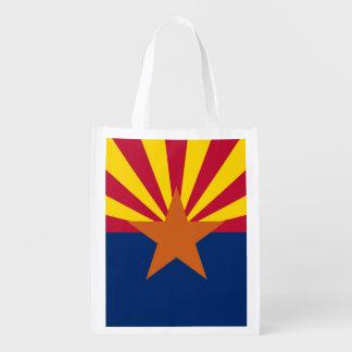 Bolso de ultramarinos reutilizable patriótico con bolsas para la compra