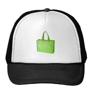 Bolso de ultramarinos reutilizable verde vacío gorros bordados