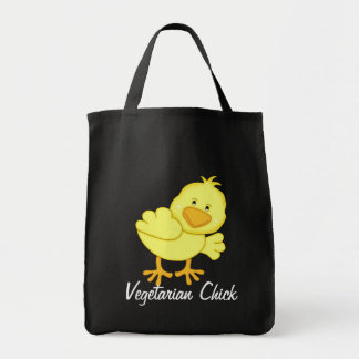 Bolso de ultramarinos vegetariano del polluelo bolsa de mano