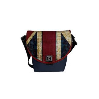 bolso de Union Jack del grunge pequeño Bolsa De Mensajeria