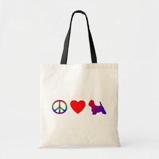 Bolso de Westies del amor de la paz Bolsas