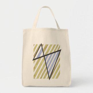 Bolso del adorno de las rayas del oro y de la lava bolsa tela para la compra
