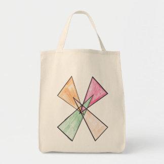 Bolso del adorno del Triángulo-x Bolsa Tela Para La Compra