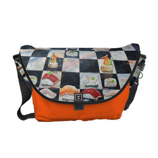 Bolso del ajedrez del sushi bolsa de mensajería