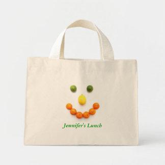 Bolso del almuerzo de la sonrisa de la fruta bolsas