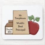 ¡Bolso del almuerzo/de los Apple-Mundos el princip Tapete De Raton