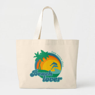 Bolso del amante de la playa bolsa tela grande