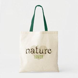 Bolso del amante de naturaleza bolsa tela barata