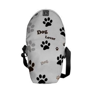 Bolso del amante del perro bolsas de mensajería