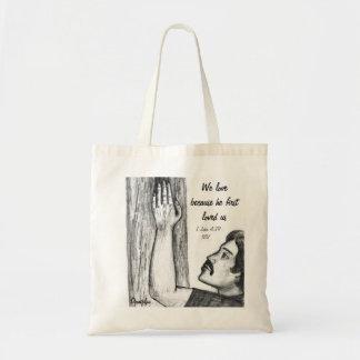 Bolso del amor de la escritura bolsas