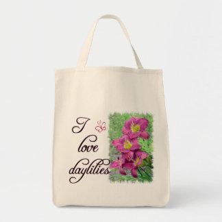 Bolso del amor del Daylily Bolsa Tela Para La Compra
