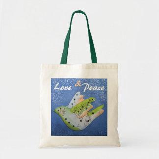 Bolso del amor y de la paz bolsa