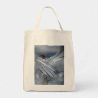 Bolso del ángel de guarda bolsa tela para la compra
