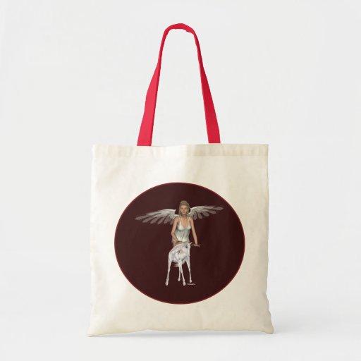Bolso del ángel del bebé del unicornio bolsa tela barata