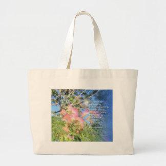 Bolso del árbol de seda del rezo de la serenidad bolsa de tela grande