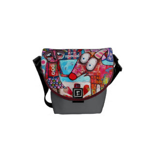 Bolso del arte contemporáneo bolsas de mensajería