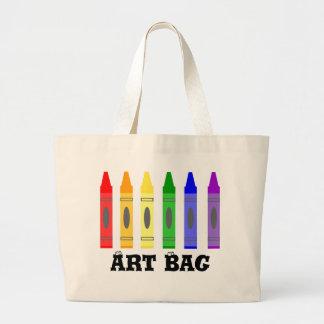 Bolso del arte del artista del creyón bolsa tela grande