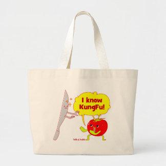 Bolso del arte del Doodle del tomate de KungFu Bolsas