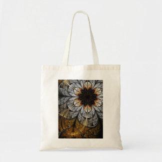 Bolso del arte del fractal: Flor II Bolsa Tela Barata