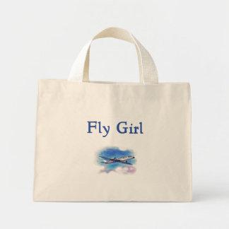 Bolso del asistente de vuelo del chica de la mosca bolsa de mano