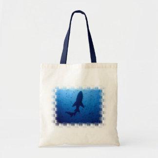 Bolso del ataque del tiburón pequeño bolsas lienzo