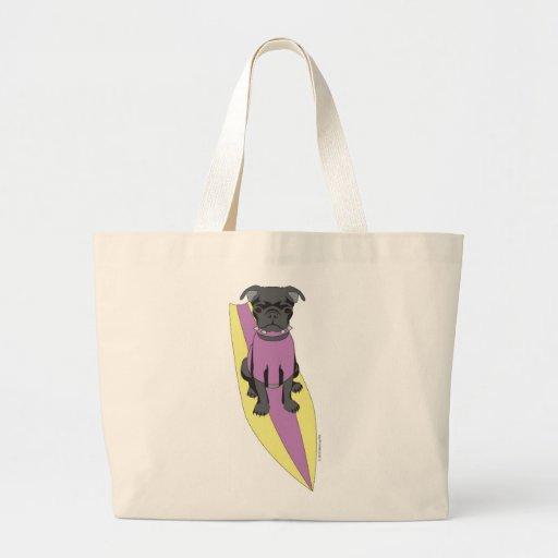 Bolso del barro amasado que practica surf (rosa/am bolsas de mano